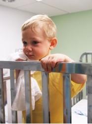 Sick Boy In Hospital