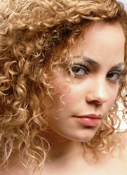 Naturally Curly Blonde Hair