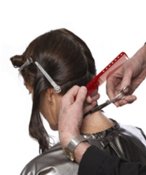 Model Getting Hair Cut