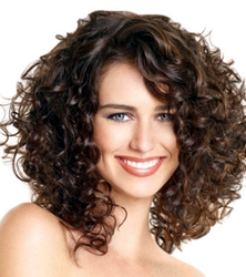 Naturally Curly Shoulder Length Hair