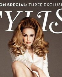Kylie Minogue On Cover Of Stylist Magazine With Big Hair