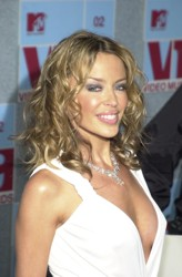 Kylie Minogue With Ringlet Curls In 2002