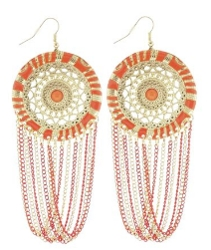 Tangerine Hued Earrings - Soho Beat From HairBoutique.com Marketplace
