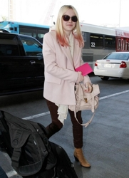 Dakota Fanning With Pink Dip Dyed Strands