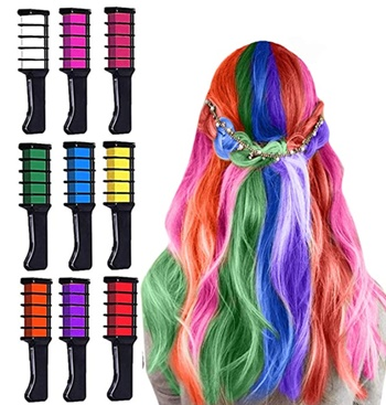 How To Chalk Dip Dye Your Hair - Image Of Popular Hair Chalk - MSDADA - Image Courtesy Of Amazon