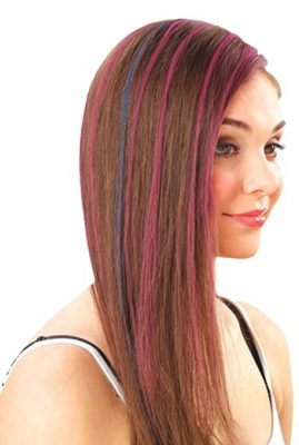 How To Chalk Dip Dye Your Hair - Huez Hair Color Compacts Work on all hair colors from very light blonde to brunette or redhead shades.