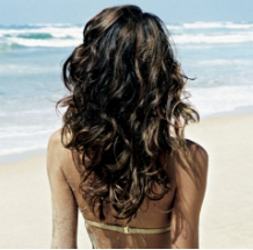 Brunette With Beachy Waves
