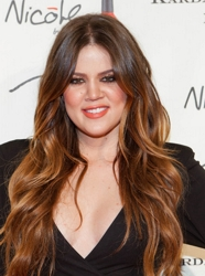 Khloe Kardashian Ombre Hair with Loose Waves