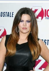 Khloe Kardashian With Ombre Hair