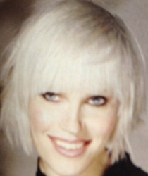 Platinum Blonde Shag With Full Fringe