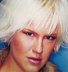 Stunning Platinum Blonde Shag