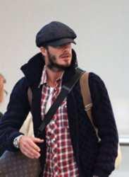 David Beckham Wearing Messenger Cap