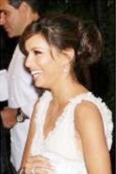 Eva Longoria With Romantic Low Slung Hair Bun