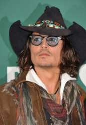 Johnny Depp With Head Accessory