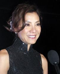 Michelle Yeoh With Hair Twist in Hair Stunts