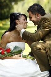 Bride Wearing Wedding Tiara