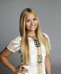 Demi Lovato - Long Blonde Bone Straight Hair