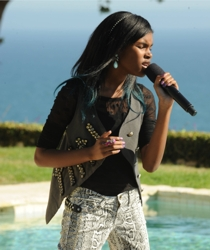 X Factor Contestant Diamond White With Rainbow Hair Color Accents