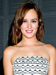 Leighton Meester Wavy Cropped Bob Hairstyle