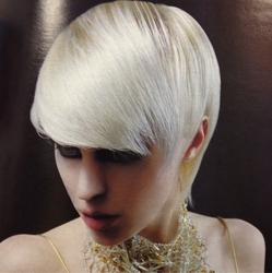 Platinum Blonde Crop With Long Full Fringe