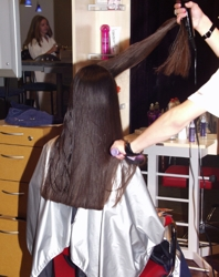 Stying Newly Trimmed Hair - Image Courtesy Of HairBoutique.com