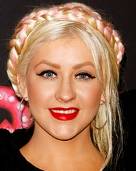 Christina Aguilera Pink Embellished Braid - Season Two Of The Voice
