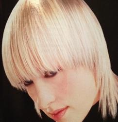 Cornsilk Blonde Bob + Shag Hairstyle