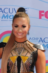 Demi Lovato's Half Up/Half Down Top Knot - Fox/TV