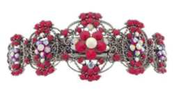 Karen Marie Red Crystal Encrusted Barrette