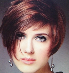 Short Cropped Haircut With Highlights & Lowlights