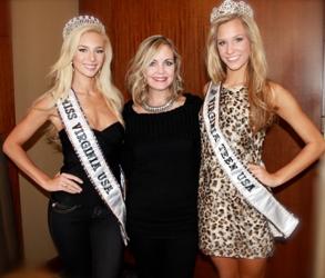 Sherri Jessee With Miss Virginia 2012 & Miss Virginia Teen 2012