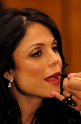 Bethenny Frankel Getting Her Make-up Applied