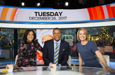 Dylan Dreyer's Bobalicious Blonde Hair - TODAY - Pictured (L-R) Sheinielle Jones, Craig Melvin, Dylan Dreyer - Tuesday, December 26, 2017 - Photo by Nathan Congleoton - NBCUniversal Media LLC - All Rights Reserved
