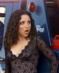 Julia Louis-Dreyfus With Long Spiral Curls