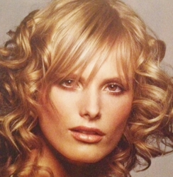 Blonde Long Bob - LOB - With Straight Side-Swept Fringe