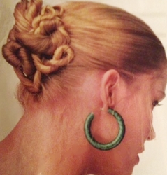 Twisted Blonde Updo