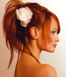 Ponytail With Hair Flower