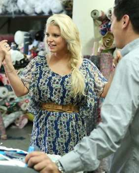 Jessica Simpson With Side Braid On NBC's Fashion Star - All Rights Reserved