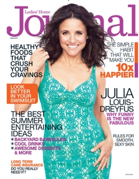 Cover on June 2014 Ladies Home Journal with  Cover Star Julia Louis-Dreyfus - Haircolor by Tracey Cunningham for Redken - All Rights Reserved
