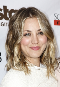 Kaley Cuoco With Long Wavy Bob - PR Photo - All Rights Reserved