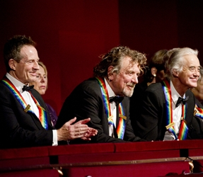 The 35th Annual Kennedy Center Honors - Pictured L-R: John Paul Jones, Robert Plant, and Jimmy Page of the band Led Zeppelin Photo: John Paul Filo/CBS ©2012 CBS Broadcasting, Inc. All Rights Reserved 12.04.2012