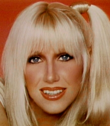 Suzanne Sommers Famous Side Ponytail - Three's Company - ABC/TV - Wikipedia.com - All Rights Reserved