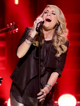 December 8, 2014  THE TONIGHT SHOW STARRING JIMMY FALLON -- Episode 0175 -- Pictured: Musical guest Carrie Underwood performs on December 8, 2014 -- (Photo by: Douglas Gorenstein/NBC) Monday, December 8 on NBC (11:35 p.m.-12:35 a.m.) 2014 NBCUniversal Media, LLC