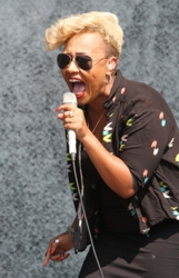 Emeli Sande Embraces Mixed Cultural Hair With Bleached Blonde Cut at V Festival 2012 - Day 1     Landmark / PR Photos