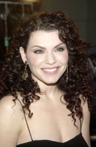 """Julianna Margulies With Natural Curly Hair - at Premiere of Warner Brothers """"Ghost Ship"""" at Mann Village Theater, Westwood, CA 10-22-02  Photo courtesy of DC Media - All Rights Reserved"""