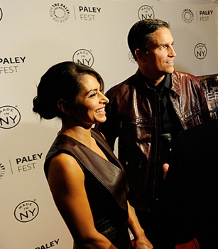 Amy Acker, Sarah Shahi & Kevin Chapman on the red carpet at the Paley Center for Media in New York City on Thursday, October 3. The event, moderated by Matt Roush of TV Guide Magazine, is part of the Paley Center's PaleyFest: Made in NY. Photo: Jeffrey R. Staab /CBS ©2013 CBS Broadcasting Inc. All Rights Reserved