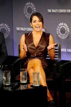 Pictured Sarah Shahi, at a screening and panel discussion at the Paley Center for Media in New York City on Thursday, October 3. The event, moderated by Matt Roush of TV Guide Magazine, is part of the Paley Center's PaleyFest: Made in NY. Photo: Jeffrey R. Staab /CBS ©2013 CBS Broadcasting Inc. All Rights Reserved