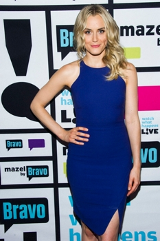 Taylor Schilling - WATCH WHAT HAPPENS LIVE -- Episode 10035 -- Pictured: Taylor Schilling - (Photo by: Charles Sykes/Bravo)  August 9, 2013 Thursday, August 8 on Bravo (11-11:30 p.m. ET) 2013 Bravo Media, LLC