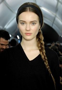 Thin Bandeau Soft Headband - Redken For Valentino- Hair by Guido - All Rights Reserved
