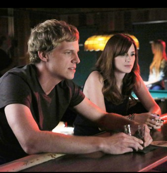 """YOU'RE THE WORST -- """"Equally Dead Inside"""" -- Episode 107 (Airs Thursday, August 28, 10:30 pm e/p) -- Pictured: (L-R) Chris Geere as Jimmy Shive-Overly, Aya Cash as Gretchen Cutler -- CR: Byron Cohen/FX"""